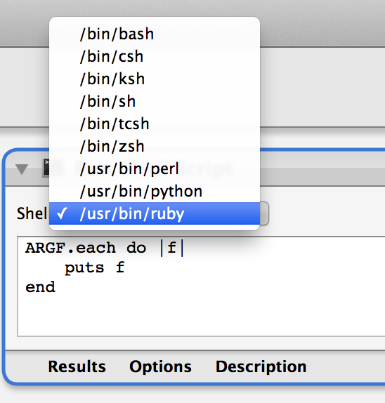 Ruby In Automator